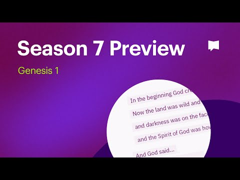 Season 7 Preview: Visual Commentary - Genesis 1