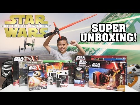 STAR WARS Super TOY Unboxing!!! The Force Awakens Surprise Box! - UCHa-hWHrTt4hqh-WiHry3Lw