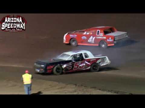 Arizona Speedway  IMCA Stock Car Main   8 28 21 - dirt track racing video image