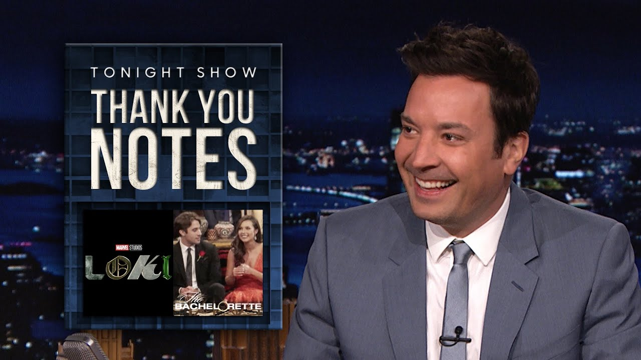 Thank You Notes: Loki Charms, The Bachelorette | The Tonight Show Starring Jimmy Fallon