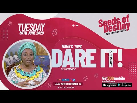 Dr Becky Paul-Enenche - SEEDS OF DESTINY  TUESDAY JUNE 30, 2020
