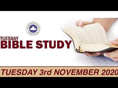 RCCG NOVEMBER 3rd 2020 BIBLE STUDY