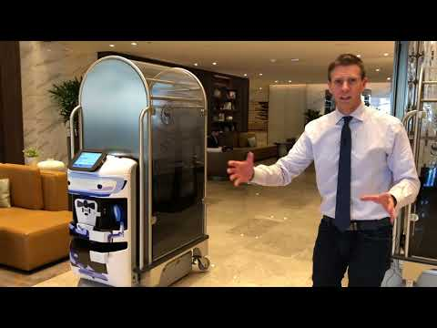 Robots Take Over Luggage Duties at Sheraton Los Angeles San Gabriel [Aethon TUG] - UCVkCTivt9PJC3mPF00Qio0A