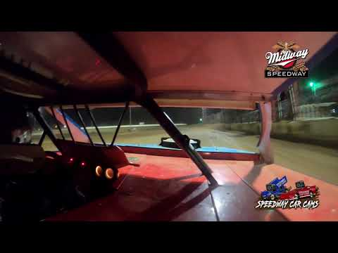 #49 Cole Wells - Usra B-Modified - 9-10-2021 Midway Speedway - In Car Camera - dirt track racing video image
