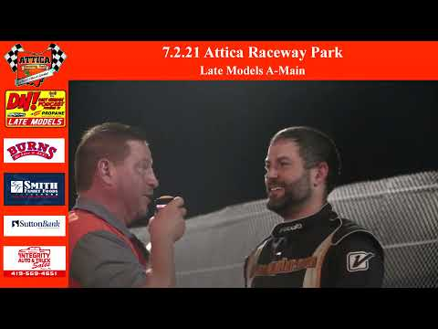 7.2.21 Attica Raceway Park Late Models A-Main - dirt track racing video image
