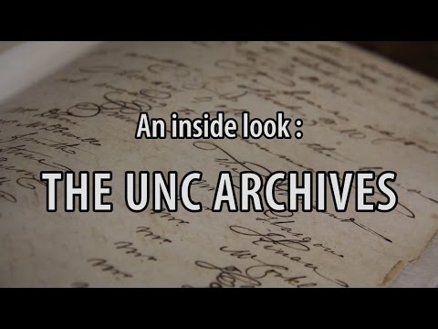 University Archivist Nicholas Graham preserves UNC records from when the University was founded to the present. He explores his favorite collections and his daily life in the stacks of Wilson Library.