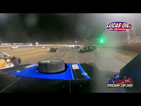 #17 Neil Johnston - Usra B-Modified - 10-9-2021 Lucas Oil Speedway - In Car Camera - dirt track racing video image
