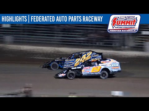 DIRTcar Summit Modifieds Federated Auto Parts Raceway August 14, 2021   HIGHLIGHTS - dirt track racing video image