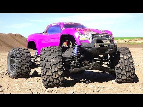 Rc Adventures Purple Traxxas Xmaxx Gets High Bashing A New