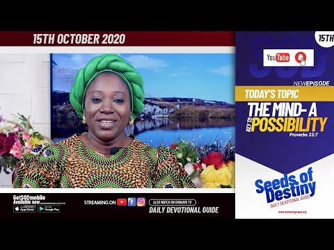Dr Becky Paul-Enenche - SEEDS OF DESTINY - THURSDAY OCTOBER 15, 2020