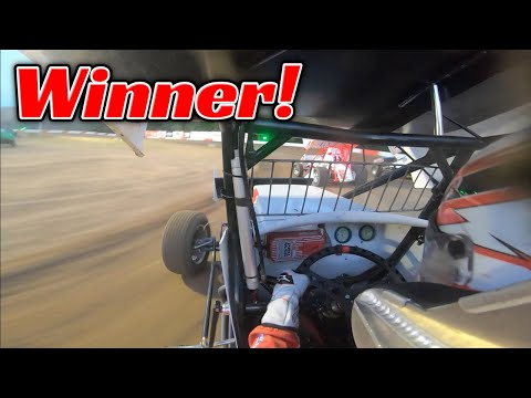 Tanner Holmes Sprint Car PASS FOR THE WIN at Coos Bay Speedway! - dirt track racing video image