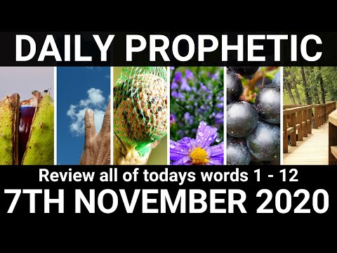 Daily Prophetic 7 November All Words