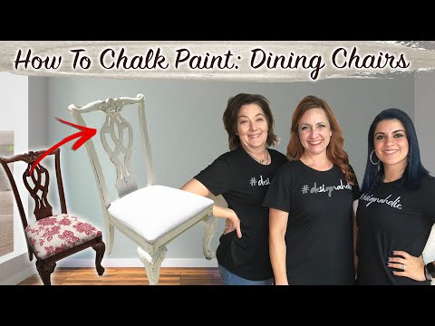 THRIFT FLIP: Chalk Paint: Dining Chairs Makeover  *Easy DIY For Beginners* (NEW 2020 Before + After)