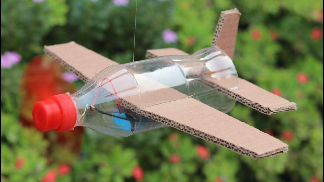 How To Make Flying Airplane Using Cardboard And Coke