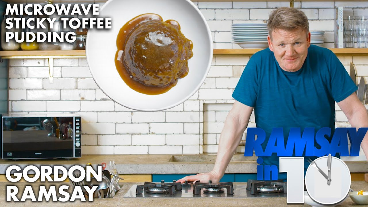 Gordon Ramsay Makes a Sticky Toffee Pudding in a Microwave?!?   Ramsay in 10