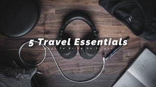 5 Travel Essentials For Long Flights  5 個长途飛機必帶品