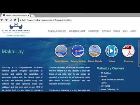 MakaiLay - At-Sea Cable Lay Management Software