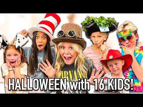 BUYiNG HALLOWEEN COSTUMES for 16 KiDS!?