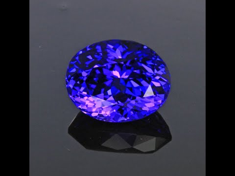 Blue Violet Oval Tanzanite Gemstone 5.18 Carats