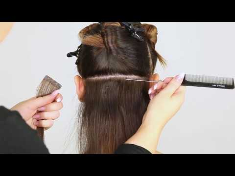 How to attach Quick & Easy tape extensions