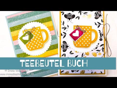 Neue März Produkte--Stampin' Up!--Anleitung Teebeutelbuch/Teebüchlein