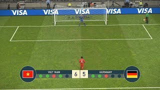 VIET NAM vs GERMANY - PENALTY SHOOTOUT - PES19