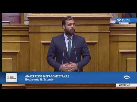 Α. Μεγαλομύστακας στην Ολομέλεια της Βουλής (8-11-2018)