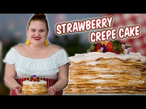 Elise Shows You How to Make a Beautiful Strawberry Crepe Cake | Smart Cookie | Allrecipes.com