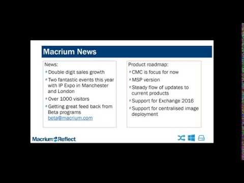 Macrium Software Webinar for EU Customers - October 2016