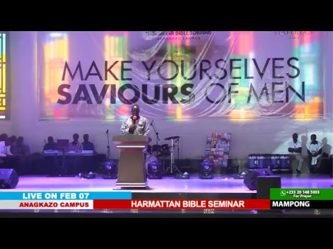 WATCH THE HARMATTAN BIBLE SEMINAR, LIVE FROM THE ANAGKAZO CAMPUS - GHANA. DAY 3 SESSION 2.