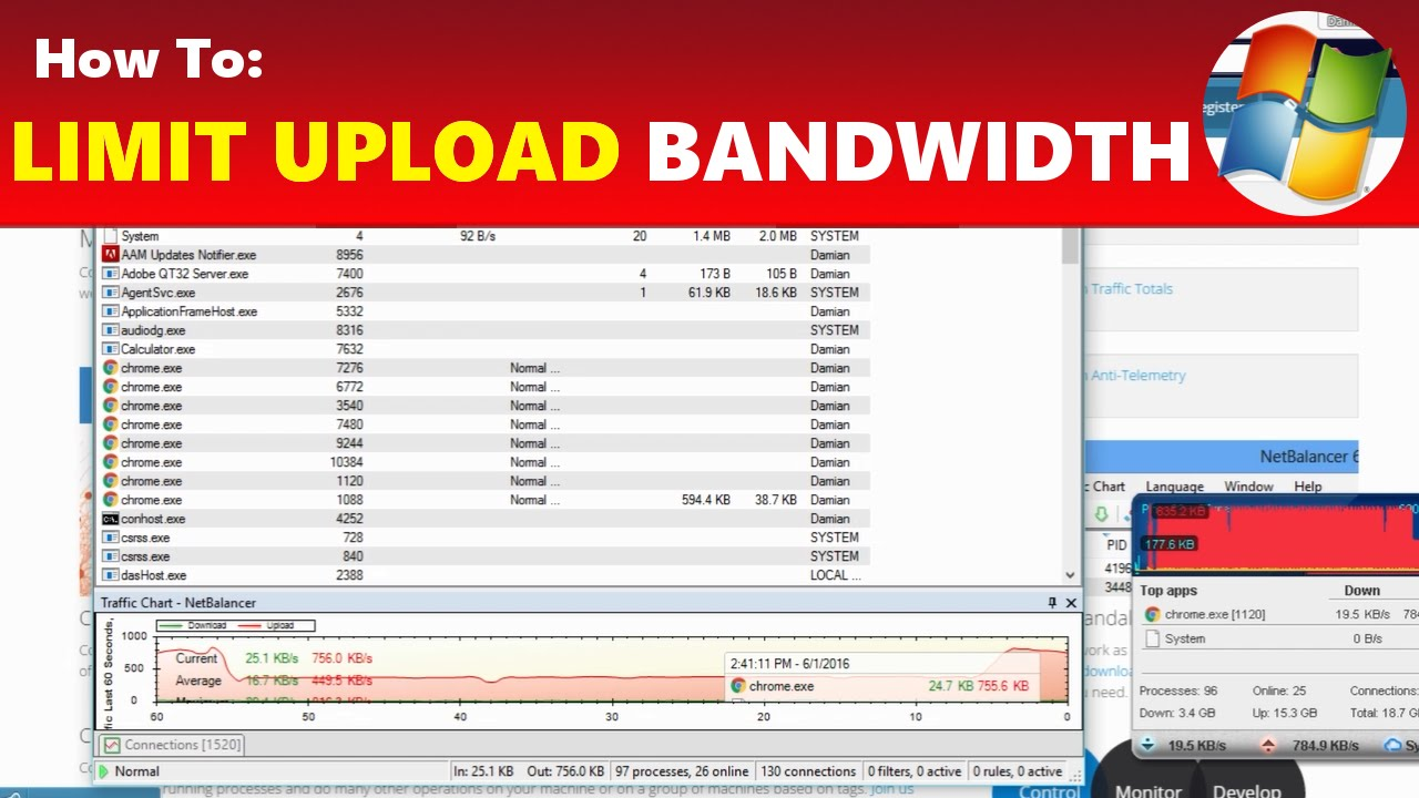 How To: Limit YouTube Upload Internet Bandwidth & Lower Ping | Racer lt