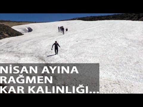 Kurtik Dağı'nda Nisan Ayında Kar Kalınlığı 6 Metre