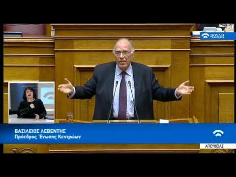 Δευτερολογία Βασίλη Λεβέντη για την ψήφο εμπιστοσύνης (Βουλή, 16-1-2019)