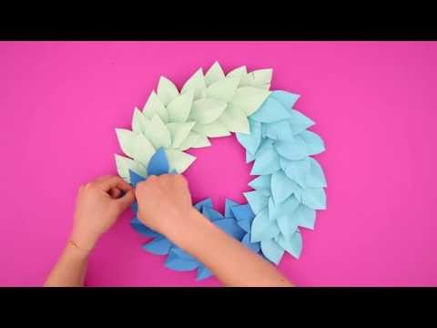 Elmer's CraftBond Hot Glue DIY Inspiration – Paper Gradient Wreath