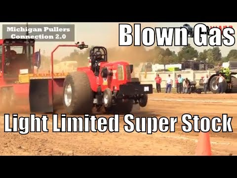 Blown Gas & Light Limited Super Stock Class From TTPA Truck Pulls In Corunna Michigan 2018