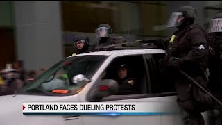 Portland braces for clash between protesters