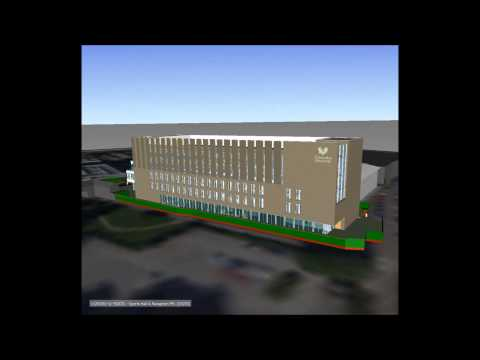 Coventry University Science and Health Building BIM fly-around