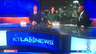 KTLA 5 News at 11pm open August 22, 2019 with commercials