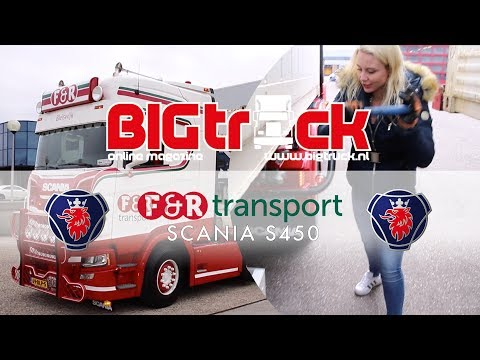 Nynke and her new Scania