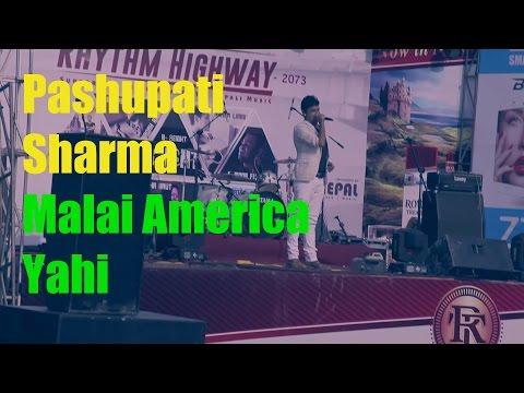Pashupati Sharma- Malai America Yahi - Rhythm Highway Concert 2016 @ Narayangarh