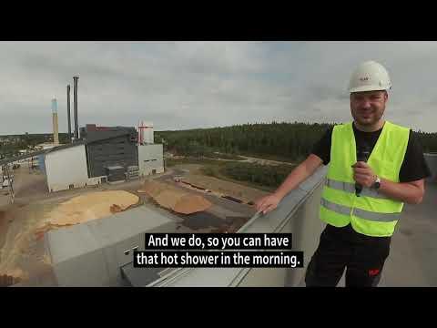 Växjö Energis CHP plant in Växjö, Sweden (eng sub)