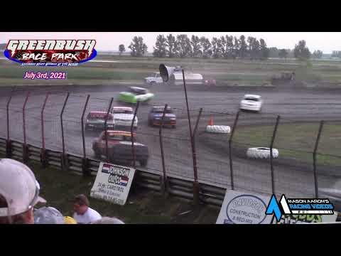 Greenbush Race Park WISSOTA Pure Stock A-Main (7/3/21) - dirt track racing video image