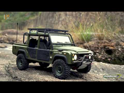 Boom Racing X Knight Customs Defender D110 Military Pickup - UCflWqtsSSiouOGhUabhKTYA