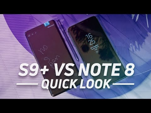 Samsung Galaxy S9/S9 Plus vs Galaxy Note 8
