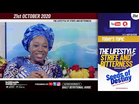 Dr Becky Paul-Enenche - SEEDS OF DESTINY - WEDNESDAY OCTOBER 21, 2020