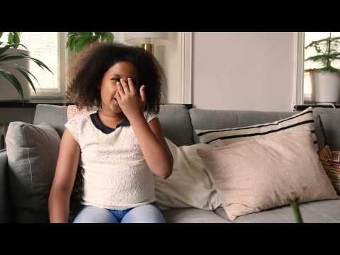 Malaika, 9 år, berättar om sitt drömrum.