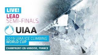 LIVE! Champagny, France l Lead semi-finals l 2019 UIAA Ice Climbing World Cup