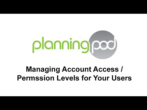 Managing User Permission Levels - Planning Pod