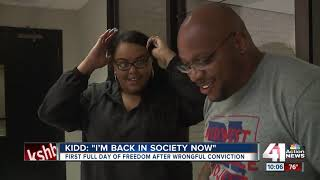 Ricky Kidd, wrongfully convicted for 23 years, takes in new freedoms