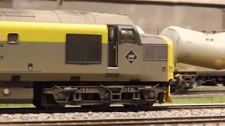 Toy Trains in N Scale - Model Railway Layout from the 1990's